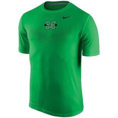 Marshall Thundering Herd Nike Sideline Dri-FIT Legend Performance T-Shirt - Kelly Green - $22.99