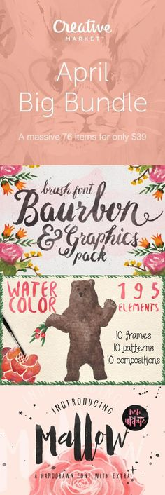 We've handpicked 76 of our top design products for this very special bundle. Discover all the amazing design goods 97% off only on Creative Market. (Sale Ends 4/14)