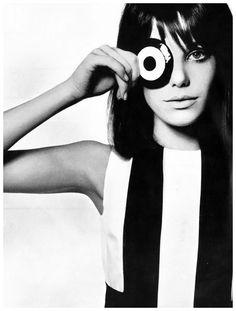 Jane Birkin by David BAILEY for Vogue UK, 1965.