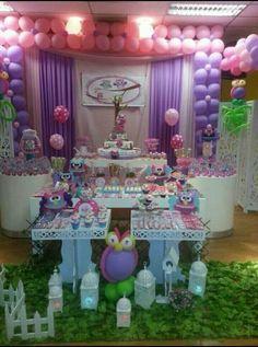 Decoración Buho para mesa de Torta..