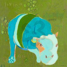 B Hippo - Jungle Canvas Wall Art | Oopsy daisy