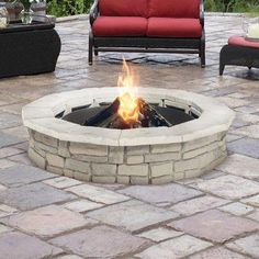 Wood Fire Pit, Concrete Fire Pits, Wood Burning Fire Pit, Fire Pit Table, Diy Fire Pit, Fire Pit Backyard, Concrete Wood, Backyard Fireplace, Outdoor Fireplaces