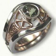 14kt White Gold Double Shadow Band for Alysia Mounting - Beautiful Ring!