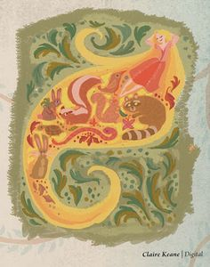 more Claire Keane artwork from Tangled mural