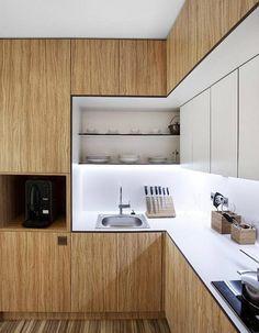 Une cuisine en bois sur-mesure