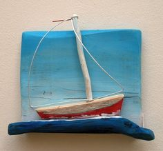 decorative objects made of driftwood on Behance