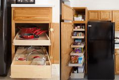 Add ready-made pull-out drawers.