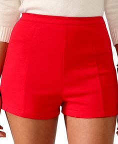 High-Waisted Ponte Knit Shorts -- I need some of these in a plus size! #fashion