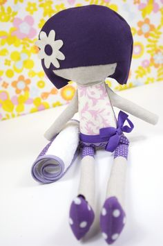 doll in purple and pink by PinkNounou