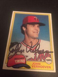 John Verhoeven Minnesota Twins Autograph Signed Card Angels White Sox