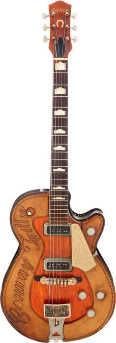 Musical Instruments:Electric Guitars, Conway Twitty's Owned and Played 1957 Gretsch Roundup 6130... Image #1