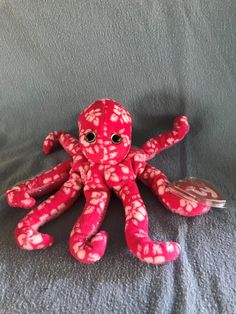 TY Beanie Baby SURFIN the OCTOPUS MWMT BBOM Stuffed Animal Beanie Babies 209de480e37d