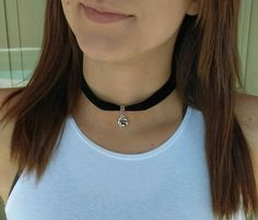 Womens Choker Velvet Choker Black, Teen Choker Choker Necklace, Boho Choker Teen Jewelry, Floral Jewelry for Mom by ReigningCrownBeads on Etsy