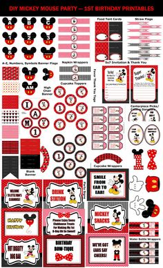BABYS FIRST BIRTHDAY - MICKEY MOUSE PARTY SUPPLIES If youre planning your little ones first birthday party and thinking about using the Mickey Mouse Clubhouse theme, you know the outcome will be nothing but hot diggity dog fun. So who will make the list of invitees? Start with your little one's Mouseketeer-worthy friends and fill out the list with family members who love your little mouse just as you do. Don't hesitate to throw in some characters like Donald Duck and Goofy. Every little…