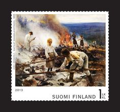 Postage Stamps, Finland, Retro, World, Painting, Painting Art, Paintings, Stamps, The World