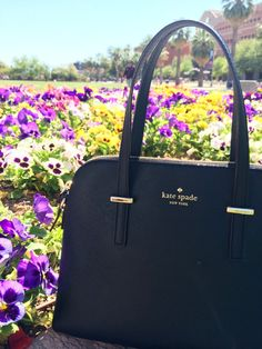 Black Kate Spade leather handbag
