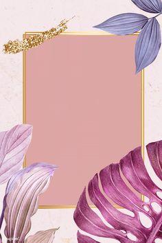 Purple leafy rectangle frame illustration | premium image by rawpixel.com / HwangMangjoo