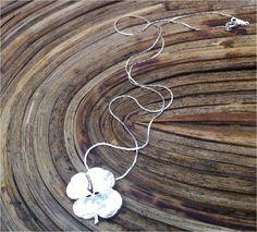 4 Leaf Clover Necklace, Sterling Silver  Woodsmith on Etsy