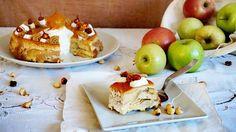 tarantella de manzana y avellanas