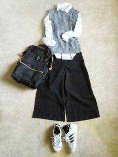 Modern Hijab Fashion, Korean Fashion Trends, Denim Fashion, Fashion Outfits, Womens Fashion, Japanese Outfits, Korean Outfits, University Outfit, Japan Outfit