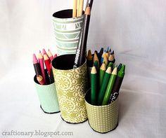 Paper Roll Pencil Organizer- Kids Craft Idea (Tutorial) - Craftionary