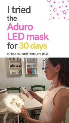 I tried the Aduro LED mask for 30 days, and compared it with another LED light therapy mask I own - see my 30-day results - inside  #naturalskincare #LEDmask