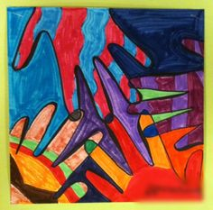 Art Moments: 5th Grade Overlapping Hands