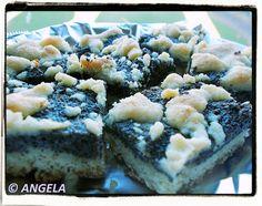 Krucho-drożdżowy kołocz z makiem - Poppy Cake - Schiacciata dolce al papavero