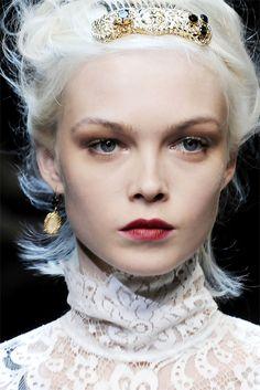 Siri Tollerød at Dolce & Gabbana