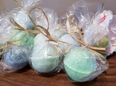Wedding shower. Baby shower. Wedding. Party. Any occasion, bath bombs individually wrappped personalized to your style and preference.    Check out this item in my Etsy shop https://www.etsy.com/listing/502201342/bath-bombs-small-wedding-showerbaby