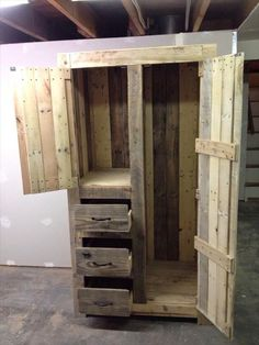 A Little Bit of This, That, and Everything: Pallet Armoire