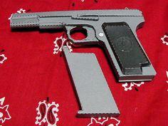Full Size Tokarev TT-33 Pistol Paper Model Ver.2 Free Template Download - http://www.papercraftsquare.com/full-size-tokarev-tt-33-pistol-paper-model-ver-2-free-template-download.html