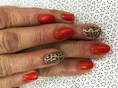 Leopard nail art. Gel polish.