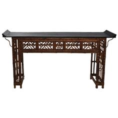 Lovely Bamboo Hall Table