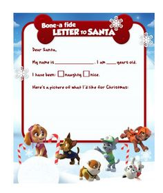 Your PAW Patrol fan can fill in the blanks and draw a picture of what they're hoping Santa PAWS will bring this year!