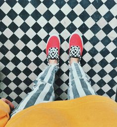 UOonYou via @oliviabynature | Vans Era Blue and Red Checkerboard Trainers | Urban Outfitters | Women's | Shoes | Trainers #urbanoutfitterseu #uoeurope #uoonyou