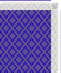 Hand Weaving Draft: Page 132, Figure 21, Donat, Franz Large Book of Textile Patterns, 8S, 8T - Handweaving.net Hand Weaving and Draft Archiv...