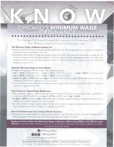 Cool know-chicagos-minimum-wage-ordinance Check more at http://dougleschan.com/the-recruitment-guru/articles/know-chicagos-minimum-wage-ordinance/