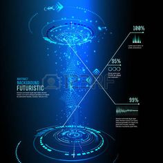 hologram: illustration of Futuristic interface, technology vector, sci-fi…