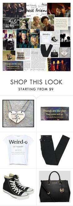 """30 Days of Veronica Mars: Day 16 - Your favorite friendship"" by lexie-ann ❤ liked on Polyvore featuring ASOS, Wallace, claire's, Pull&Bear, Yves Saint Laurent, Converse, MICHAEL Michael Kors and Alexandra Ferguson"