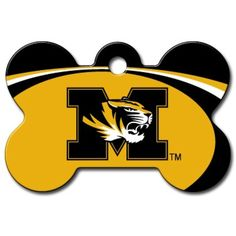 Personalized Laser Engraved 1.5 x 1 inch Missouri Tigers Bone Shape Pet ID Tag- Free Tag Silencer -- Read more at the image link. (This is an affiliate link) #IDTags