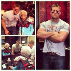 JJ Watt tackling illiteracy with Barbara Bush