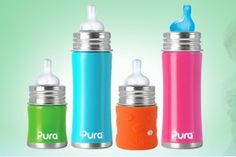 Stainless bottles and sippy cups #baby #toddler