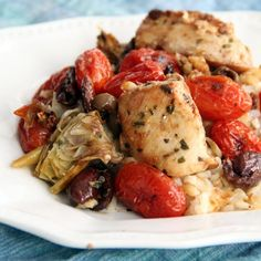 Take your tastebuds on a trip to Greece with this delicious one-pot dinner - Mediterranean Chicken.