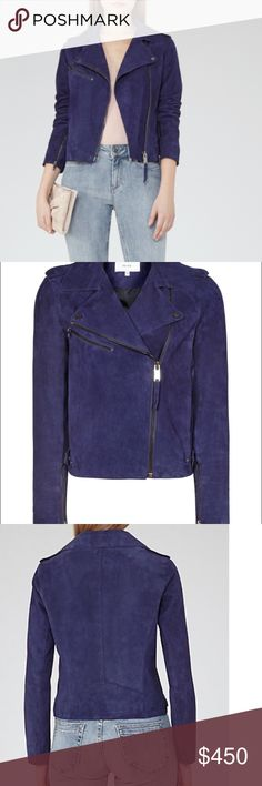 New with tags! Reiss biker jacket suede size USA 2 UK 6, love it but a bit small for me Reiss Jackets & Coats