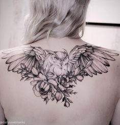 Diana Severinenko #owl #tattoo #art