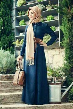 Blue & Cream Hijab