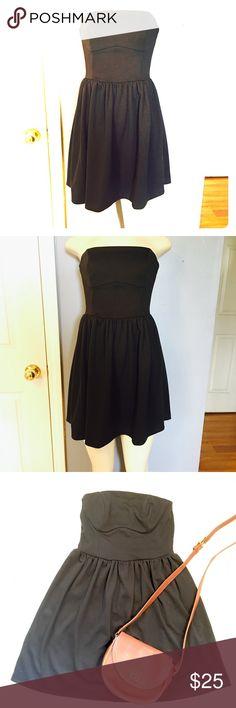 Asos Strapless Little Black Dress Asos Strapless Little Black Dress. Size 2. ASOS Dresses Strapless