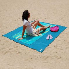 Official Website 4colors Sand Free Beach Mat Blanket Sand Proof Magic Sandless Outdoor Blanket Portable Picnic Mat By Scientific Process Camping Mat