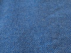 Handwoven Hand Dyed Natural Indigo pure wool fabric, Diamond twill, Suitable for reenactment outfits
